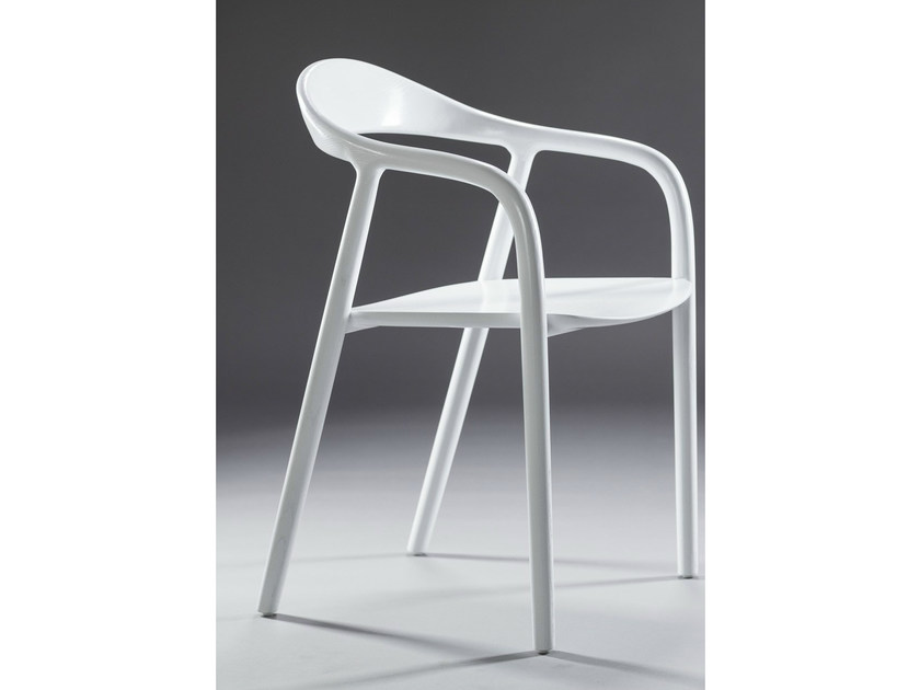 Lacquered chair with armrests NEVA | Lacquered chair - Artisan