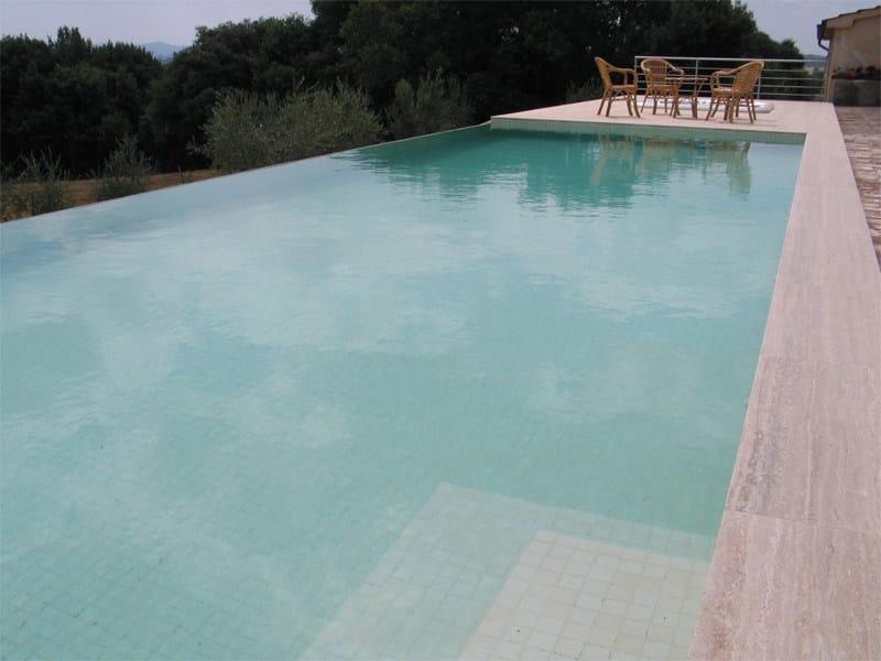 Piscina interrata a sfioro piscina in cemento indalo piscine - Piscina cemento armato ...