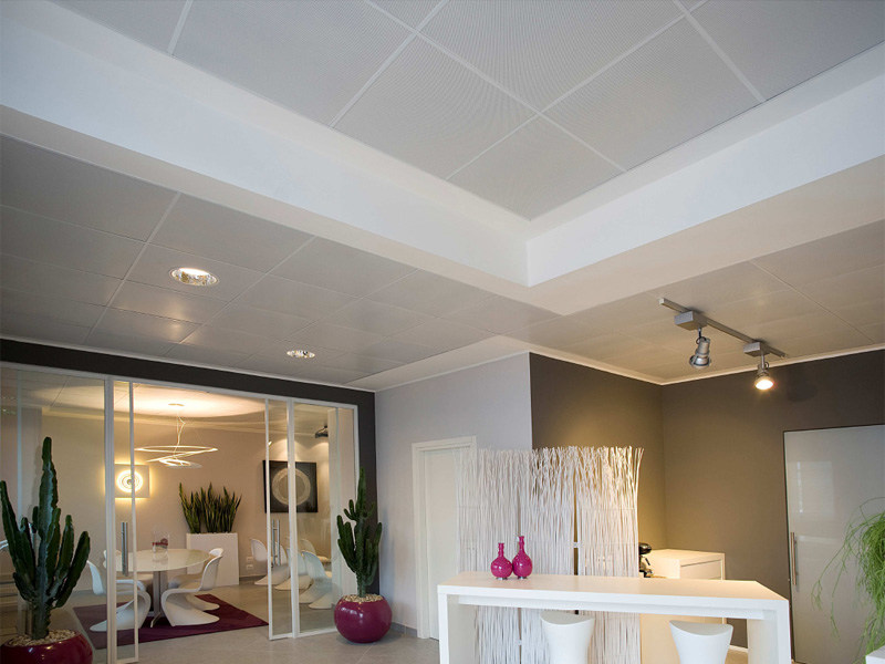Acoustic MDF ceiling tiles STAR METAL LAY-ON by ITP