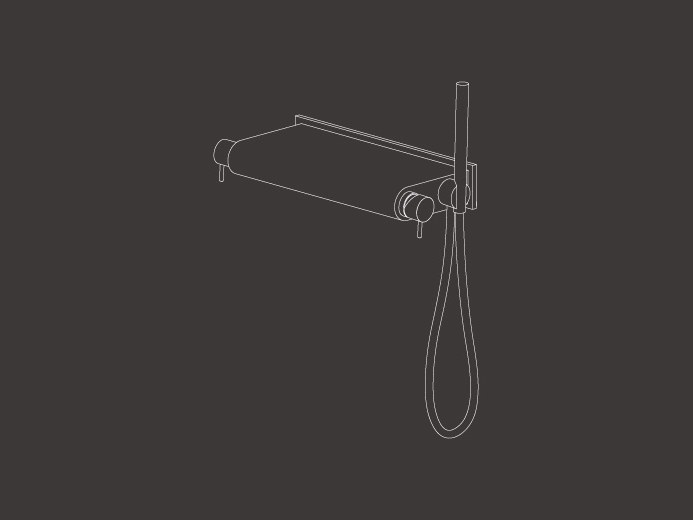 Wall mounted external mixer set with hand shower MIL 97 by Ceadesign