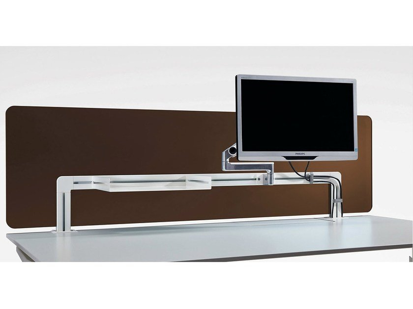 Wooden workstation screen desktop partition TABLE | Workstation screen - König + Neurath