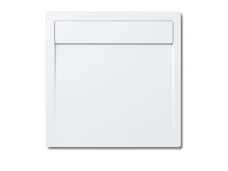 Flush fitting enamelled steel shower tray LADOPLAN by Kaldewei Italia