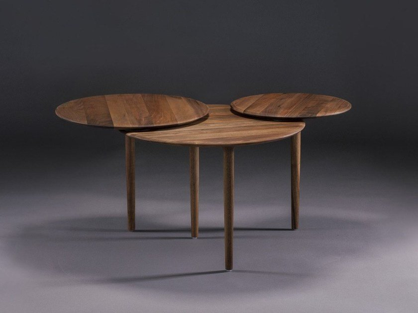 Wooden coffee table TRIPLE by Artisan