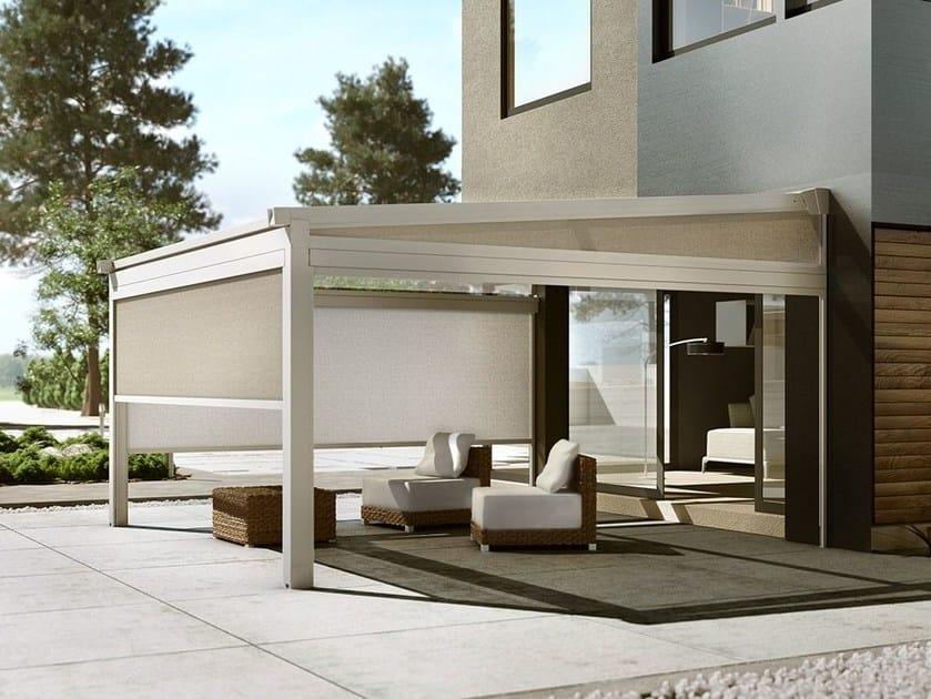 terrassen berdachung mit faltdach xtesa kollektion gennius aluminium by ke protezioni solari. Black Bedroom Furniture Sets. Home Design Ideas