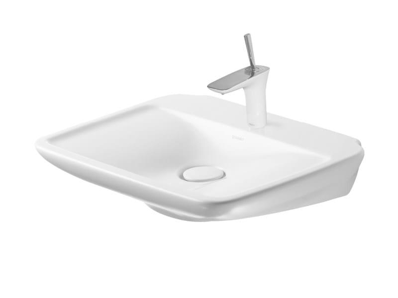 Pedestal ceramic washbasin PURAVIDA | Pedestal washbasin - DURAVIT