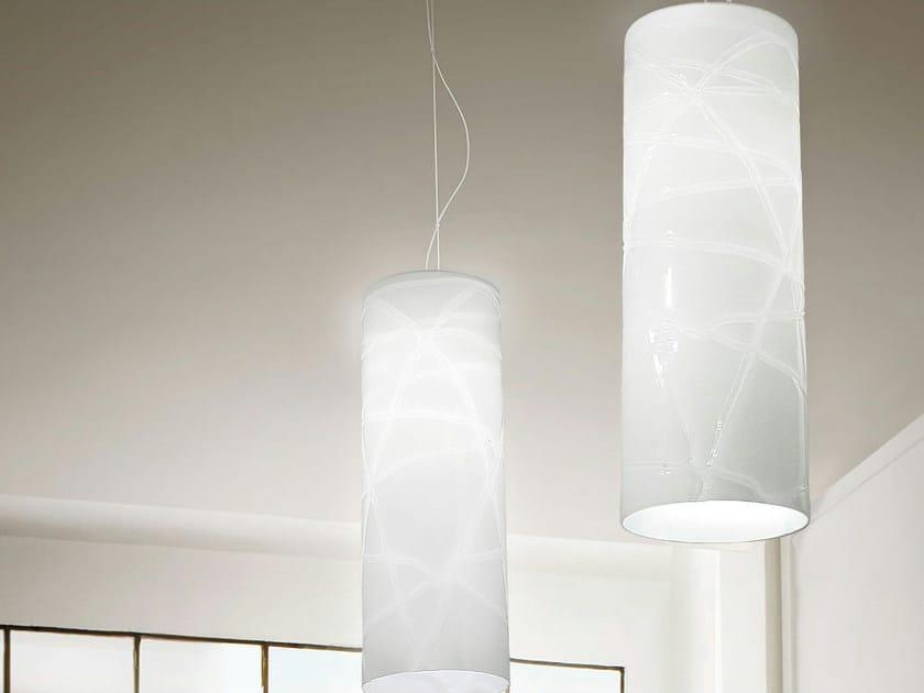 Glass pendant lamp FOLLIA SP G - Vetreria Vistosi