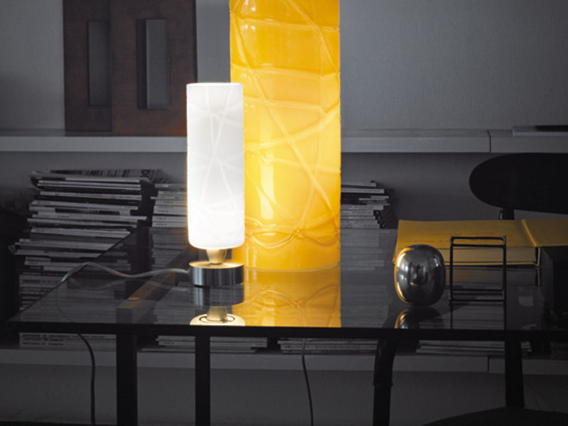 Glass table lamp FOLLIA LT P - Vetreria Vistosi