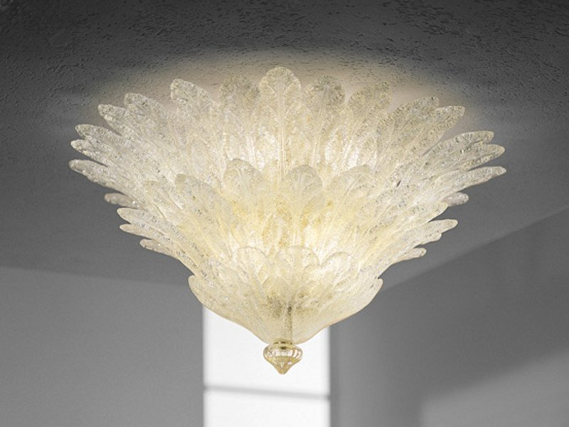 Blown glass ceiling lamp FUOCHI PL 46F - Vetreria Vistosi
