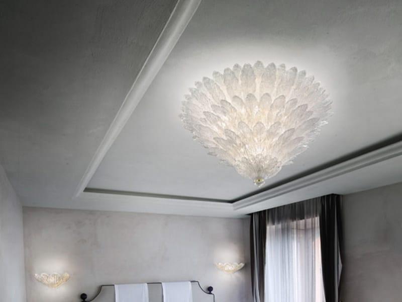 Blown glass ceiling lamp FUOCHI PL 92F - Vetreria Vistosi