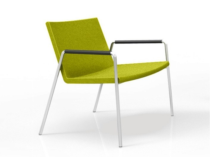 Reception chair with armrests LEON LOUNGE | Reception chair - Casala