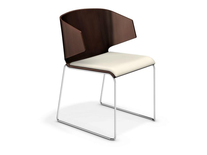 Sled base chair CARMA I | Chair - Casala