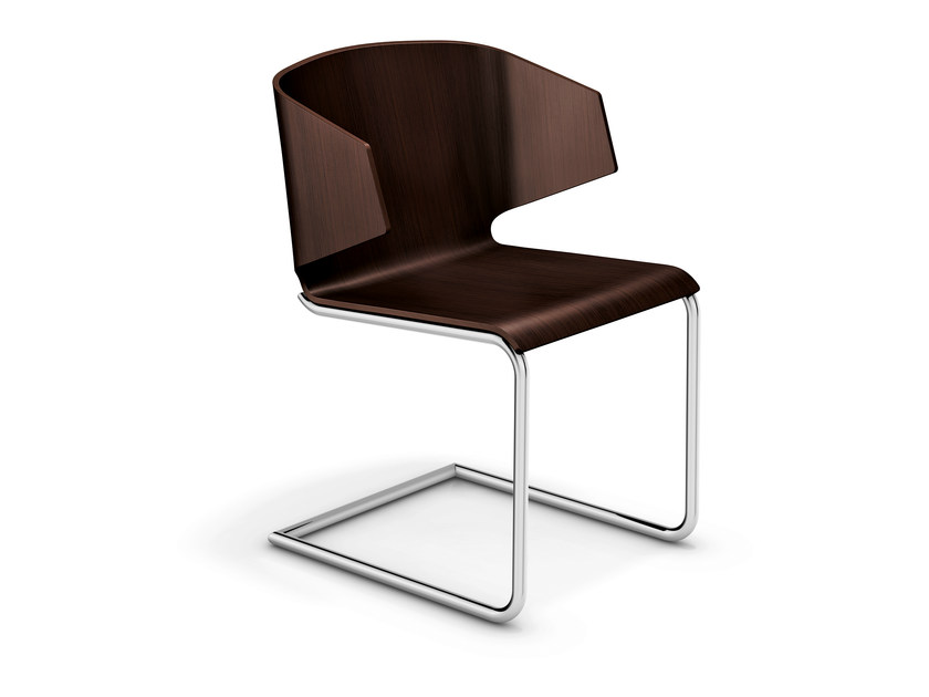 Cantilever wooden chair CARMA II | Wooden chair - Casala
