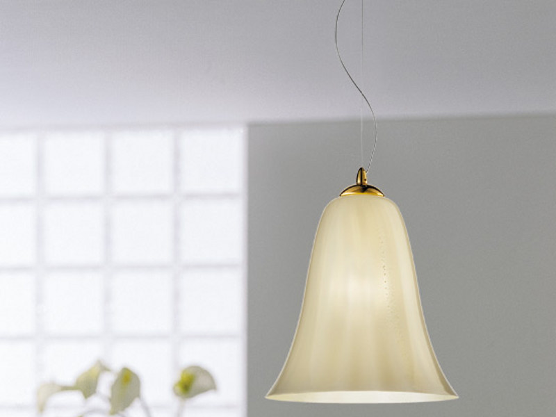 Glass pendant lamp GLORIA SP CAV by Vetreria Vistosi