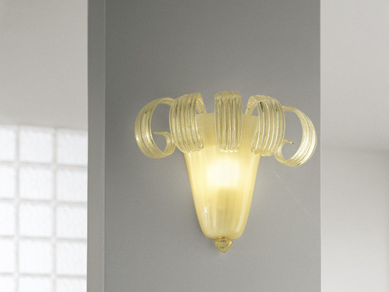 Glass wall lamp GLORIA AP 5F - Vetreria Vistosi