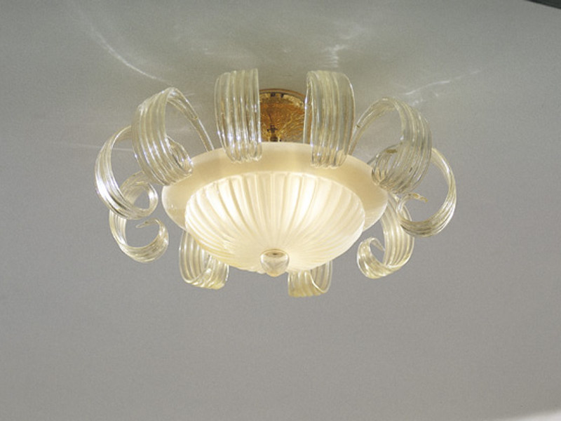 Glass ceiling light GLORIA PL 10F - Vetreria Vistosi