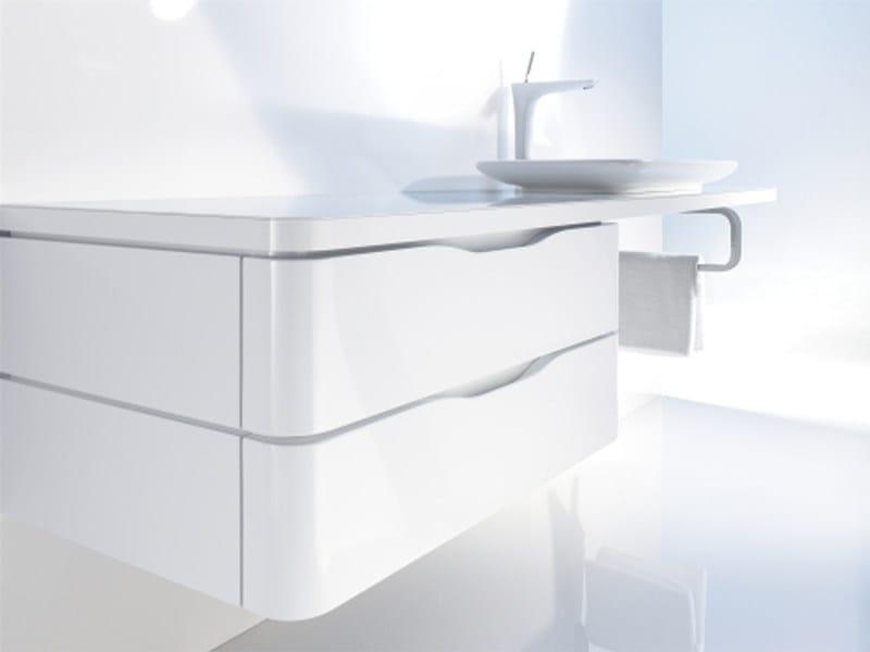 Wall-mounted vanity unit with drawers PURAVIDA | Wall-mounted vanity unit - DURAVIT