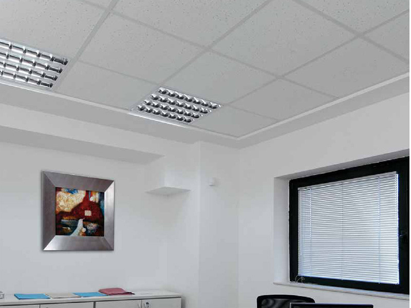 Sound absorbing mineral fibre ceiling tiles STAR TONE FISSURED by ITP