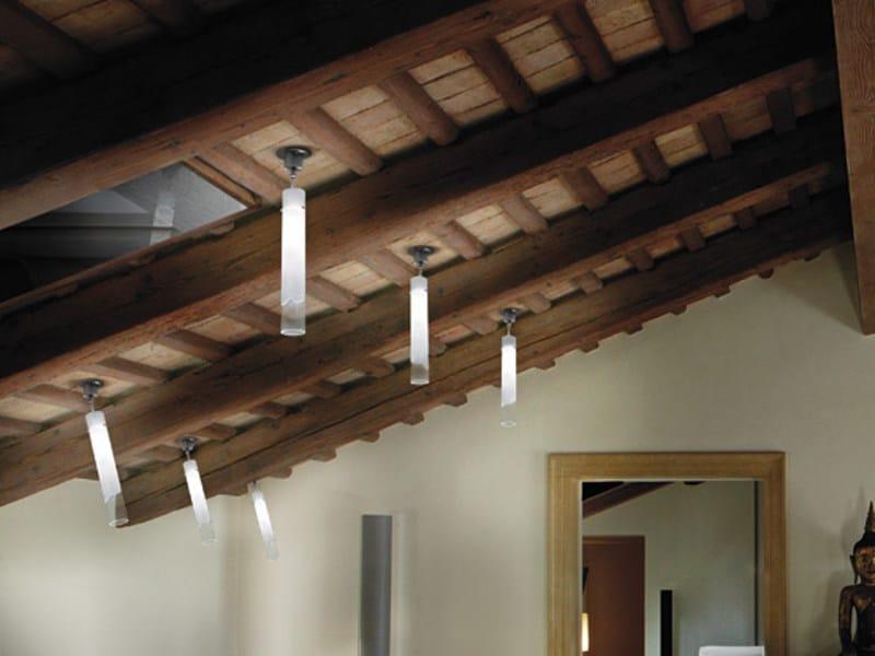 Adjustable Murano glass ceiling lamp LIO FA by Vetreria Vistosi