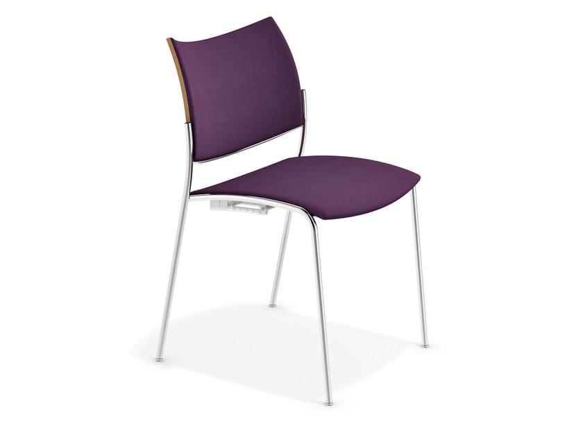 Fabric reception chair COBRA | Fabric chair - Casala