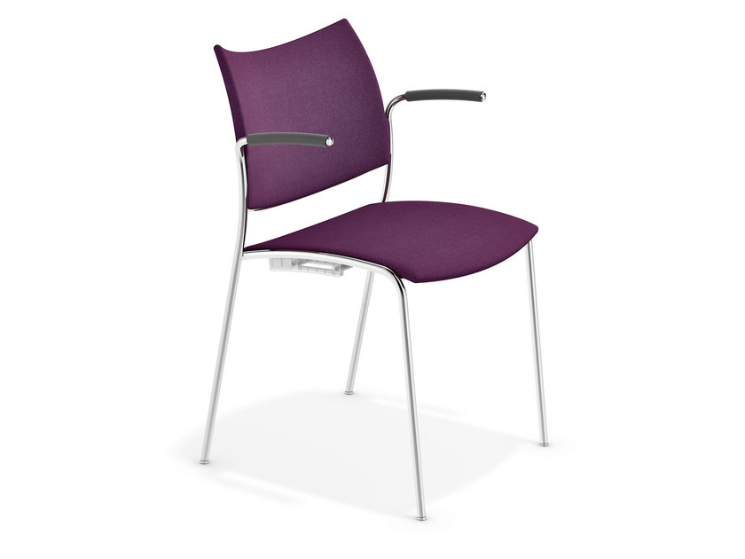 Fabric chair with armrests COBRA | Chair with armrests - Casala