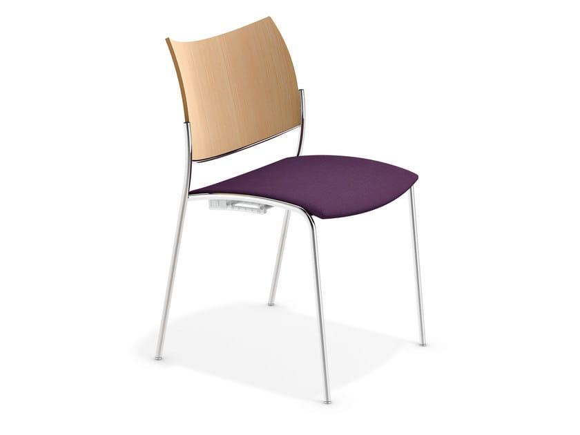 Stackable reception chair COBRA | Stackable chair - Casala