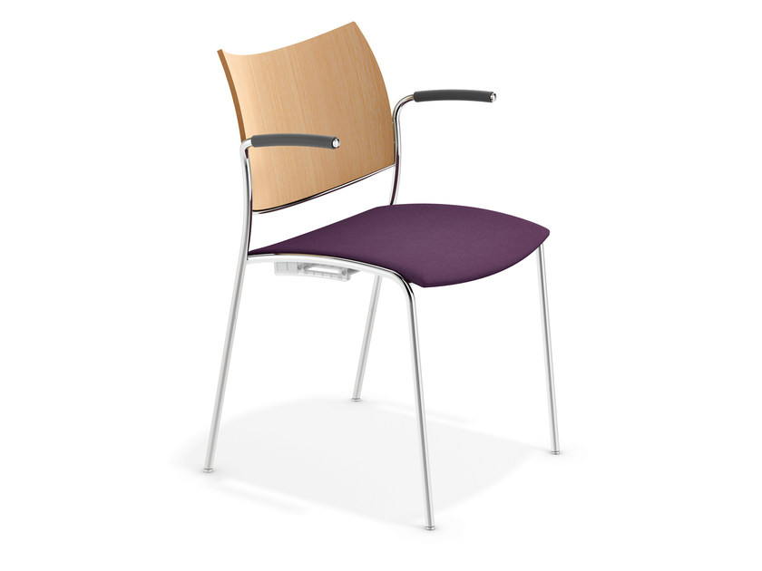 Reception chair with armrests COBRA | Chair with armrests - Casala