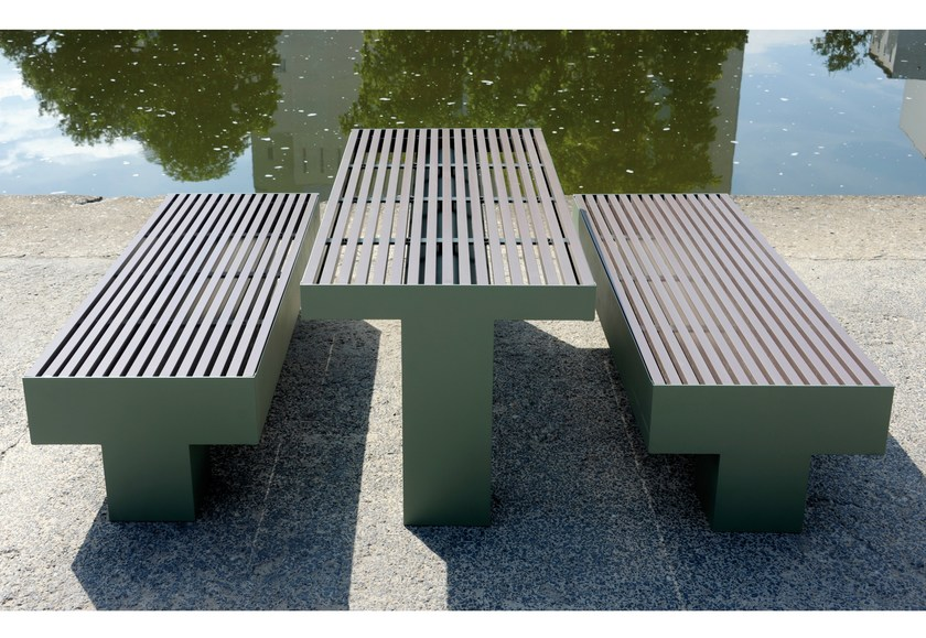 Rectangular Table for public areas COMFONY 800 | Table for public areas - BENKERT BÄNKE