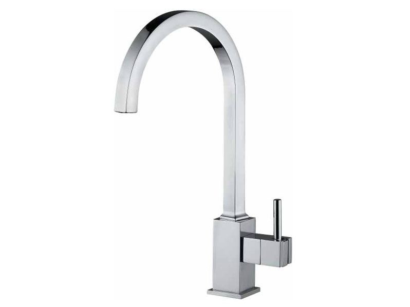 Countertop 1 hole kitchen mixer tap PABLO | Chrome-plated kitchen mixer tap by Rubinetteria Giulini