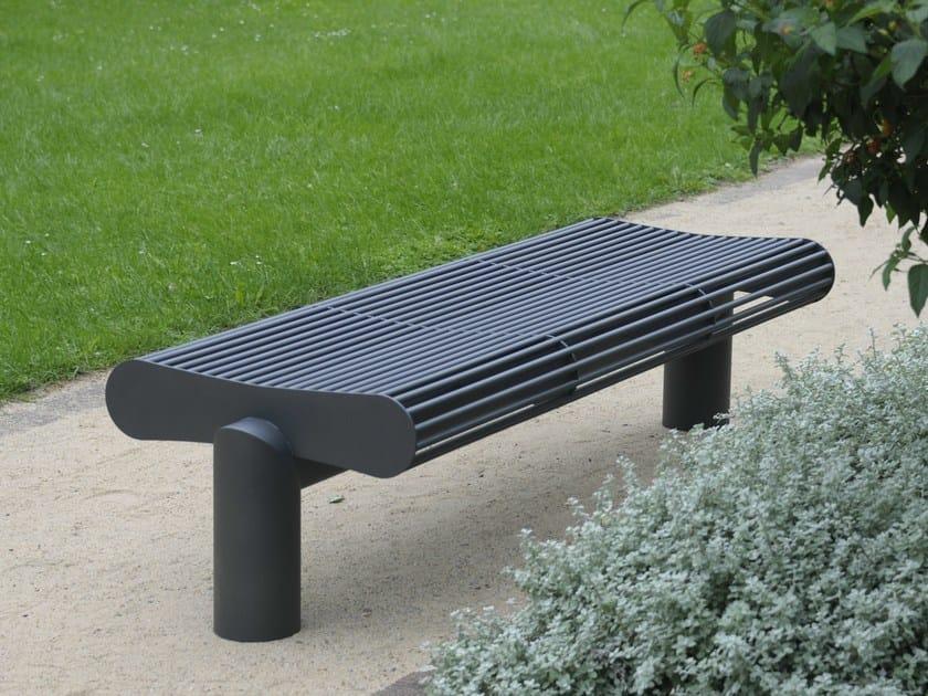 Backless stainless steel Bench SIARDO 600 R   Backless Bench by BENKERT BÄNKE