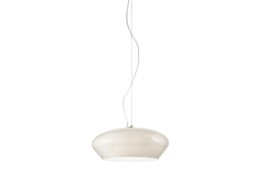 Contemporary style LED direct light halogen glass pendant lamp MARBLÈ SP 45 - Vetreria Vistosi