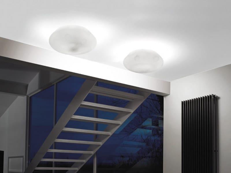 Blown glass ceiling light MARBLÈ PL - Vetreria Vistosi