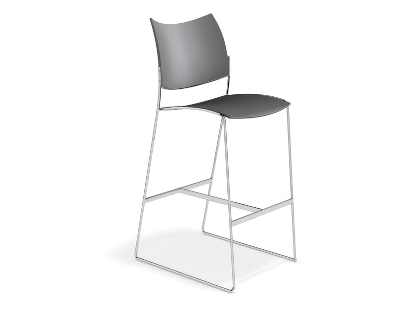 Plastic counter stool CURVY BARSTOOL | Counter stool - Casala