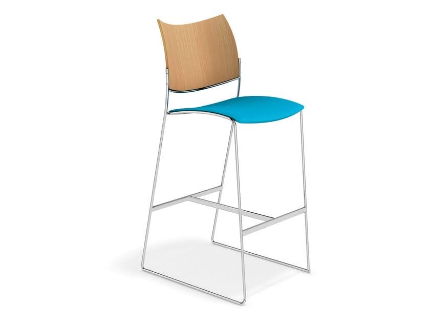 Sled base counter stool CURVY BARSTOOL | Counter stool - Casala
