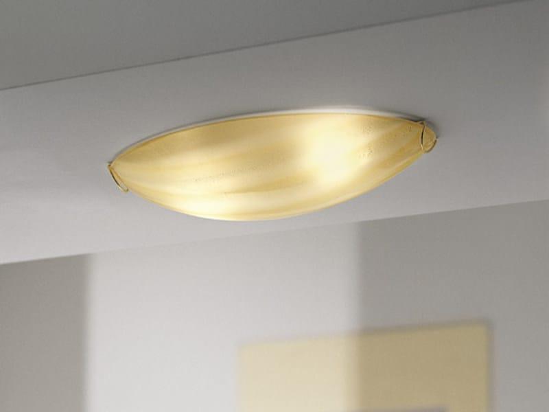 Blown glass ceiling light MAREA PP 47 by Vetreria Vistosi