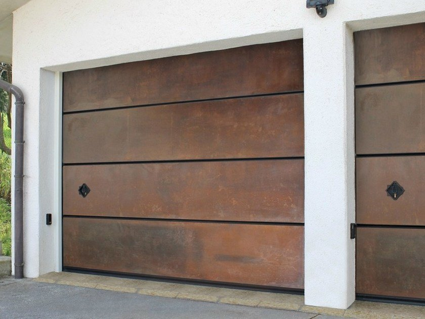 Sectional Corten™ garage door CORTEN - Breda Sistemi Industriali