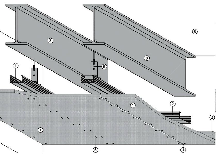 Fireproof ceiling tiles MGO FIRE PLUS® S13/27 - REI60 - ITP