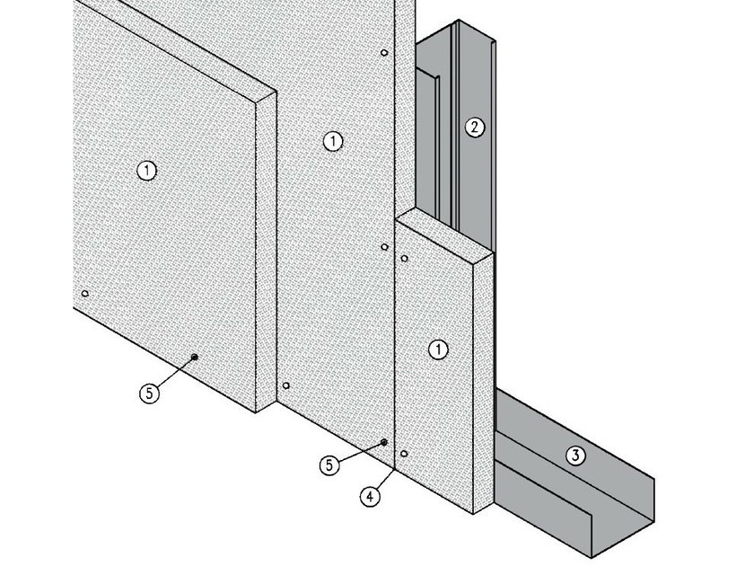 Fireproof panel for interior partition MGO FIRE PLUS® S75/50 - EI120 - ITP