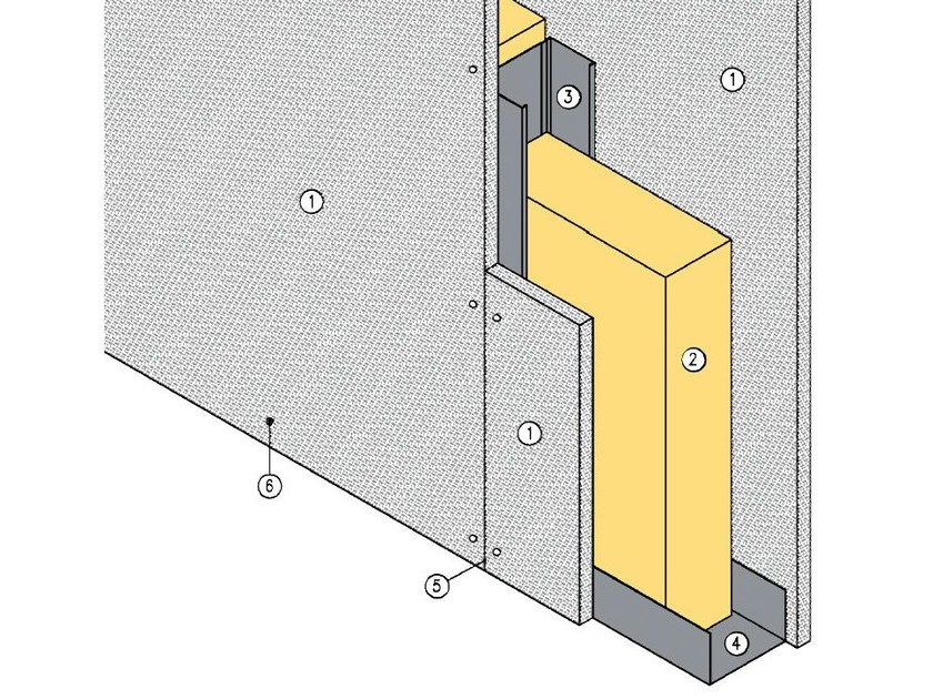 Fireproof panel for interior partition MGO FIRE PLUS® W75/101 - EI120 by ITP