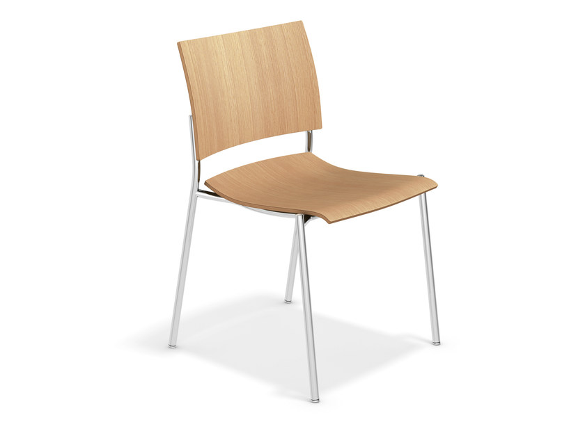 Stackable wooden training chair FENIKS | Wooden chair by Casala