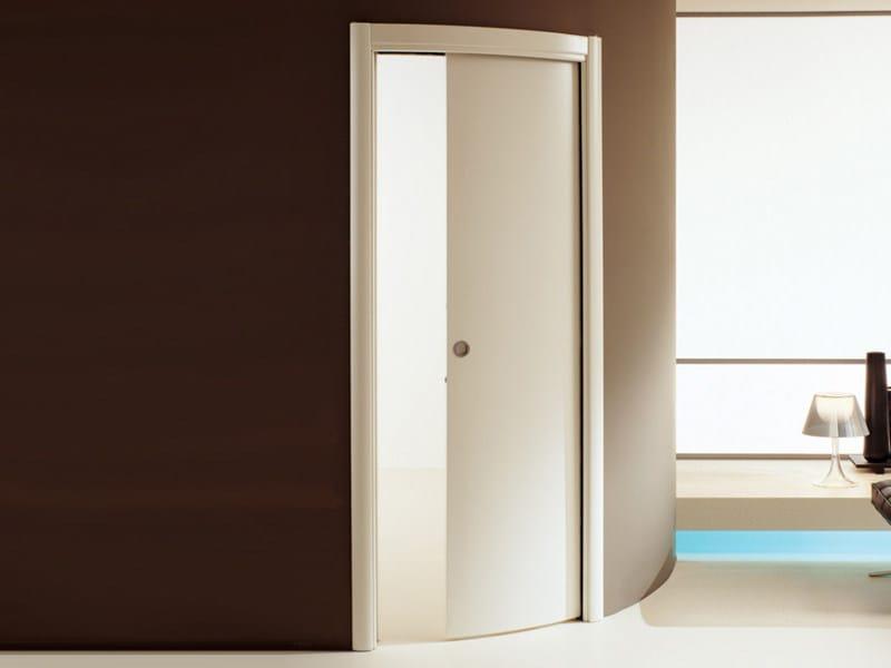 Porta curva scorrevole a scomparsa in legno lyra linea porte by scrigno by scrigno - Porta scorrevole scrigno prezzi ...