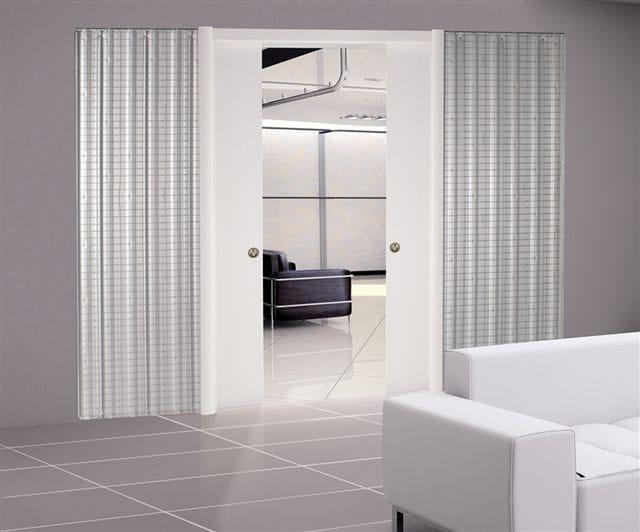 Controtelaio per porta scorrevole a doppia anta base for Porta doppia anta