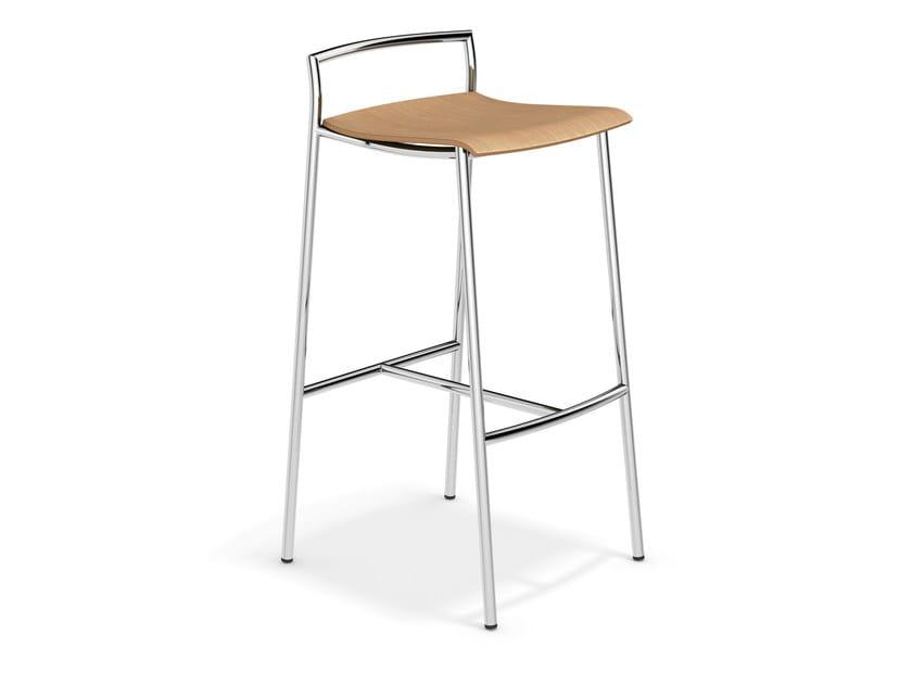 High wooden stool FENIKS BARSTOOL | High stool - Casala