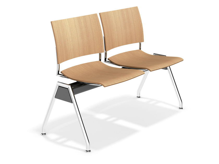 Wooden beam seating FENIKS TRAVERSE | Beam seating by Casala