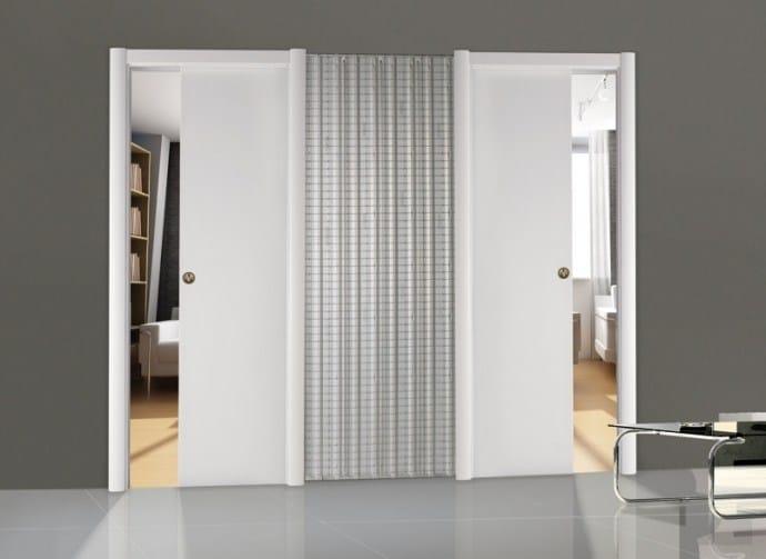 controtelaio per porta scorrevole ad ante contrapposte pratico scrigno. Black Bedroom Furniture Sets. Home Design Ideas