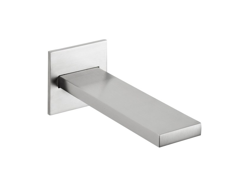 Wall-mounted stainless steel sink spout with aerator VITRUVIO | Spout with aerator - MINA