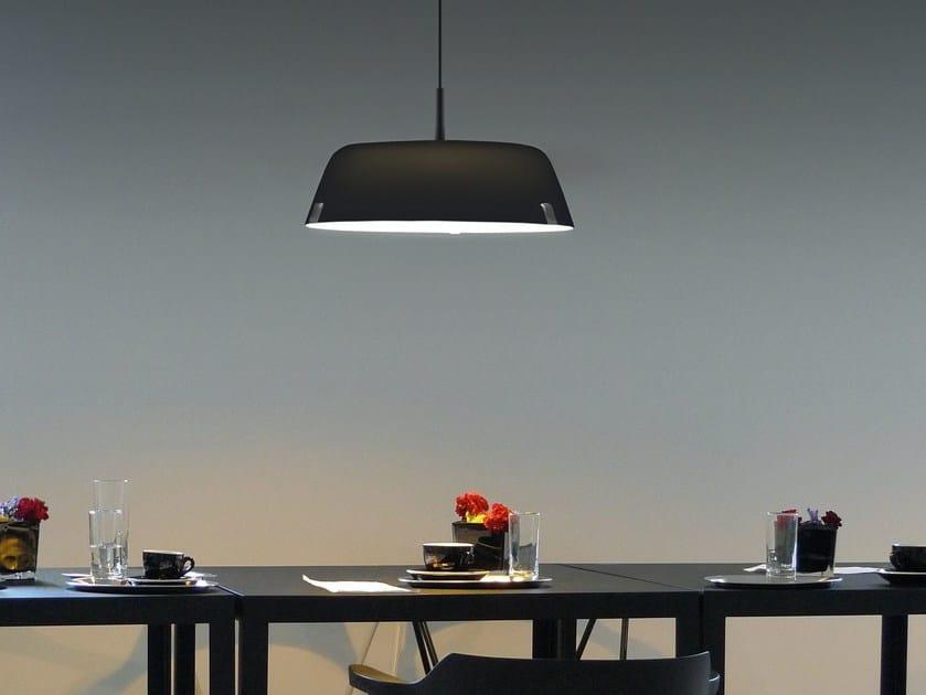 Direct-indirect light acrylic pendant lamp BORDERLINE SUSPENSION 616S - VERTIGO BIRD