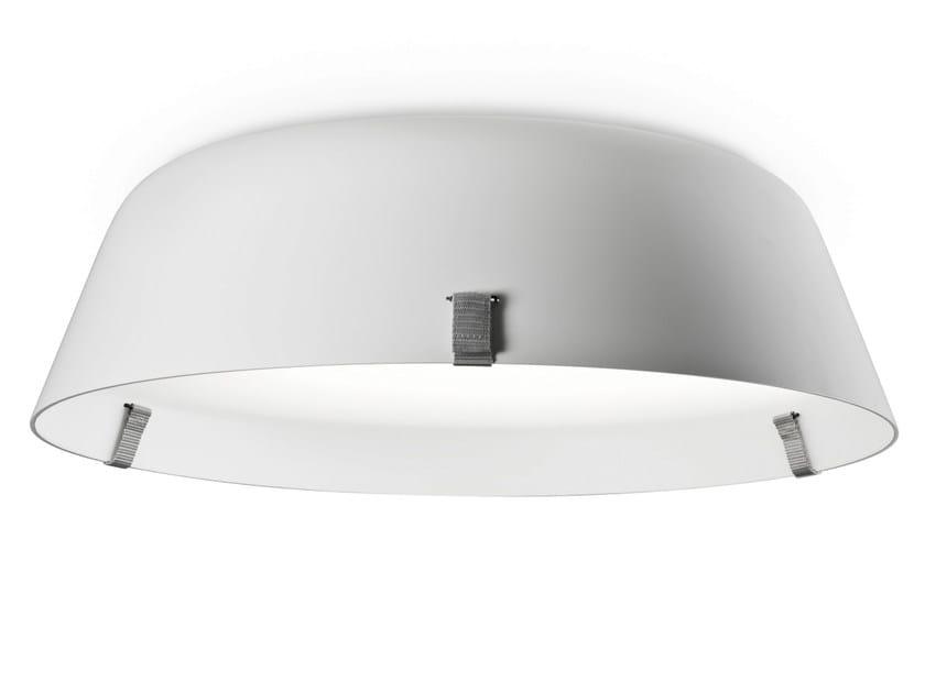 Direct-indirect light acrylic ceiling lamp BORDERLINE CEILING 444 by Vertigo Bird