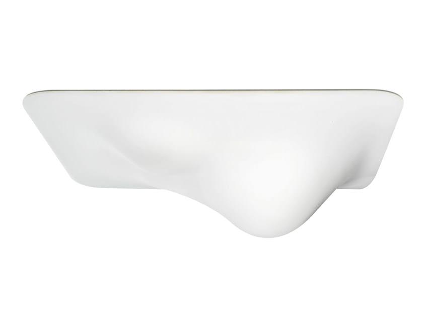 Direct light fluorescent acrylic ceiling lamp BUBBLE 500/500 - VERTIGO BIRD