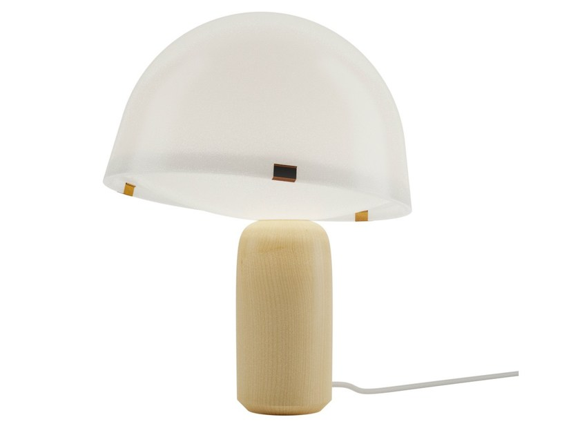 Fluorescent maple table lamp KOKESHI - VERTIGO BIRD