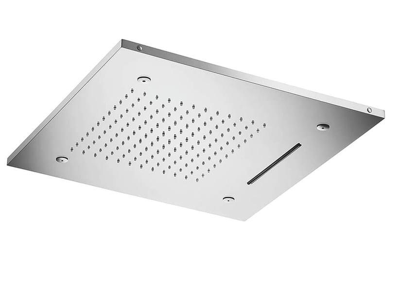 Ceiling mounted 3-spray stainless steel rain shower VELA | 3-spray overhead shower - MINA
